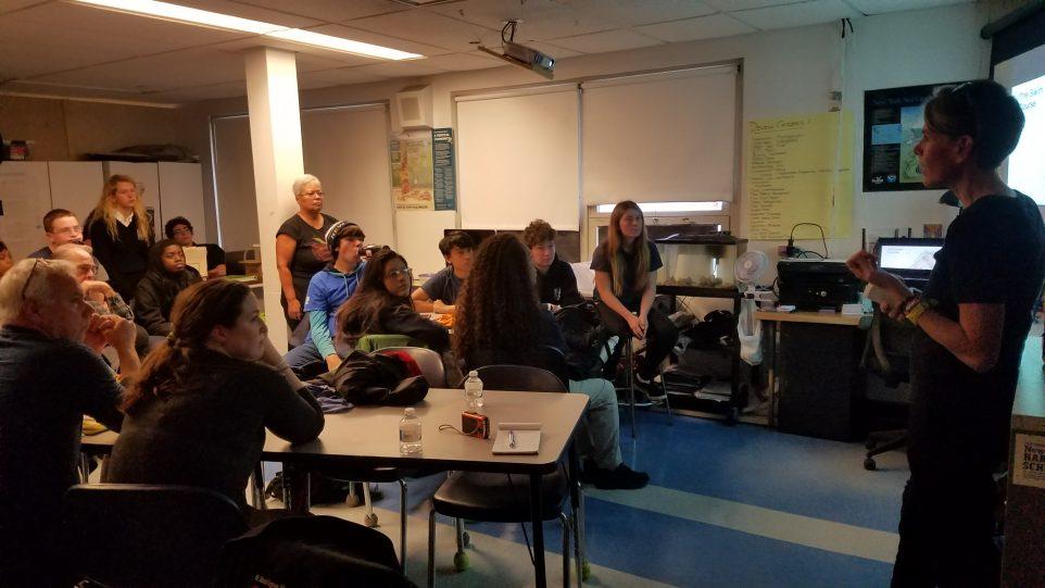 Rondi speaks at Harbor School