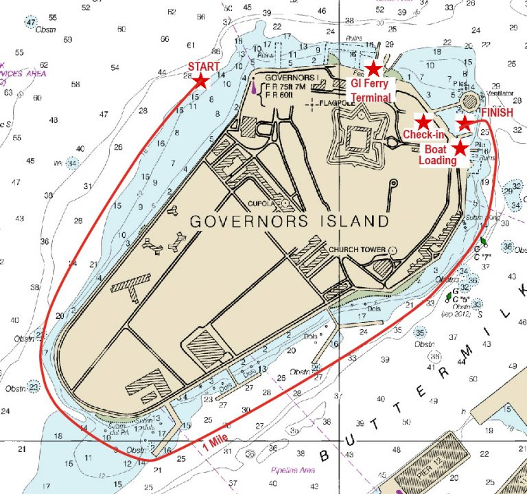 Governors Island Course Map